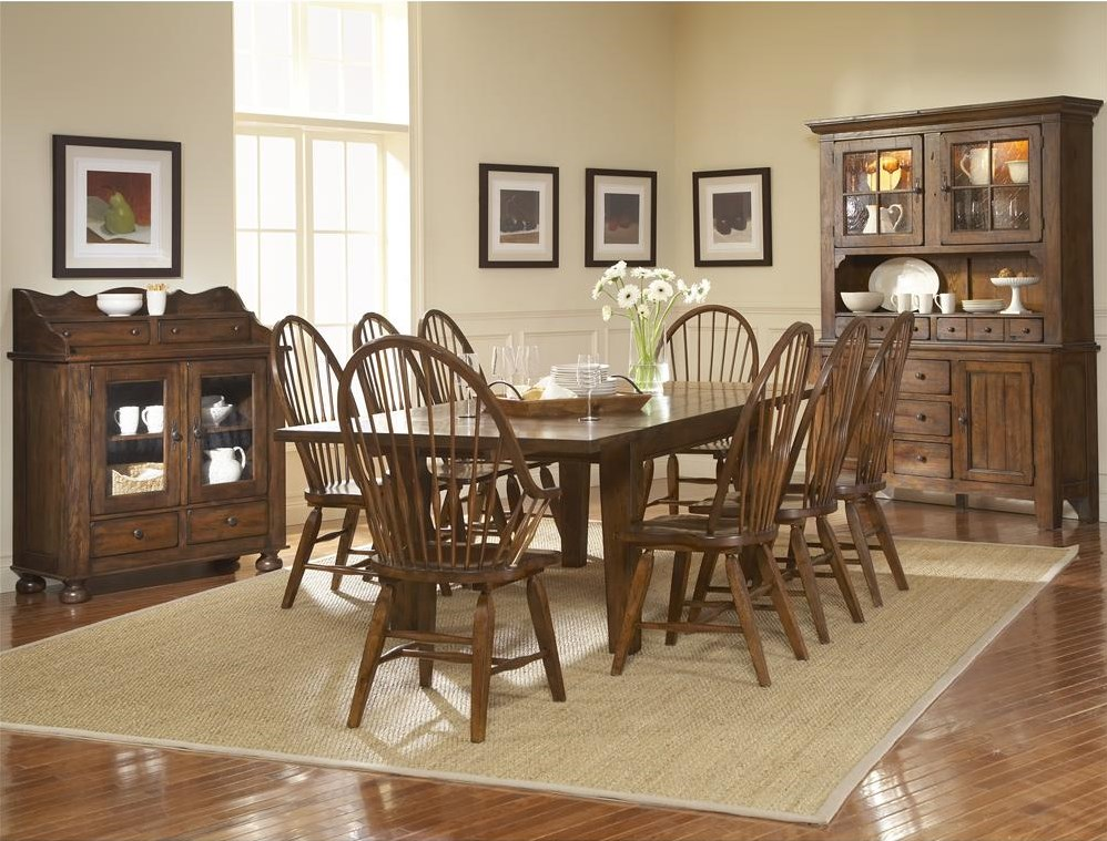 Shown With Dining Chest, Leg Dining Table, and Windsor Arm Chairs and Chairs