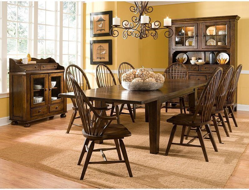 Shown with Rectangular leg Table, Windsor Arm Chairs and Windsor Side Chairs