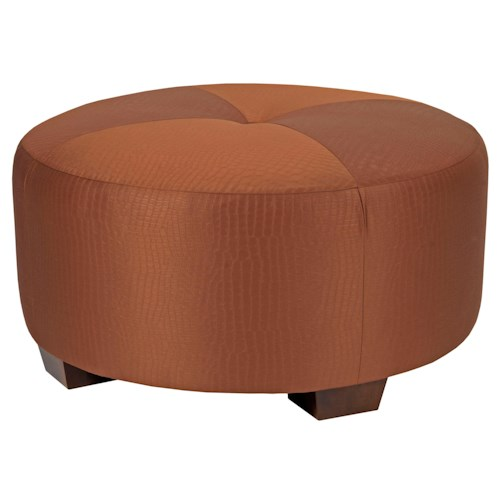 Broyhill Furniture Bachmann Contemporary Round Ottoman