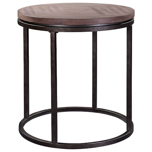 Broyhill Furniture Bedford Avenue St. John's Place Round Lamp Table with Wood Top