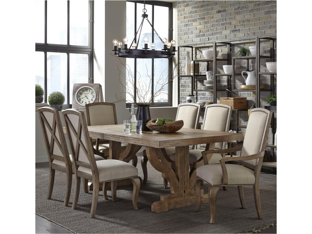 Broyhill Dining Room Table Broyhill Furniture Bedford Avenue 7 Piece Double Pedestal Table