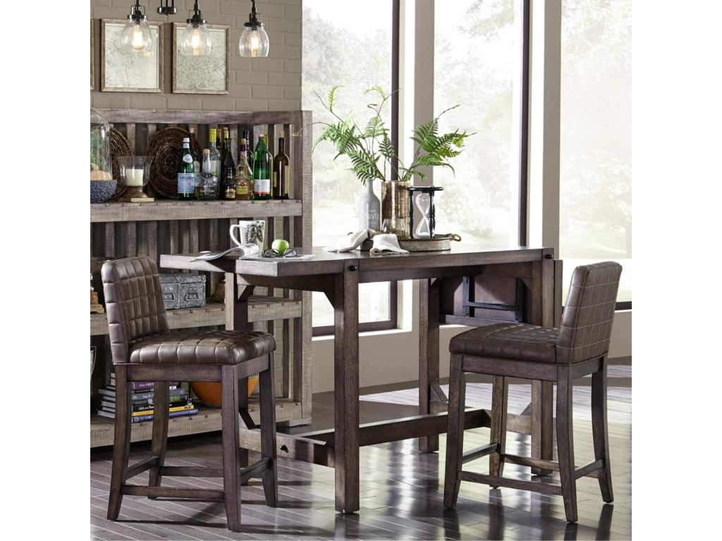 Broyhill Dining Room Table Broyhill Furniture Bedford Avenue 3 Piece Counter Height Drop Leaf