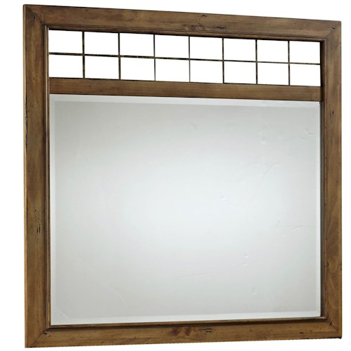 Broyhill Furniture Bethany Square Landscape Dresser Mirror with Metal Accents