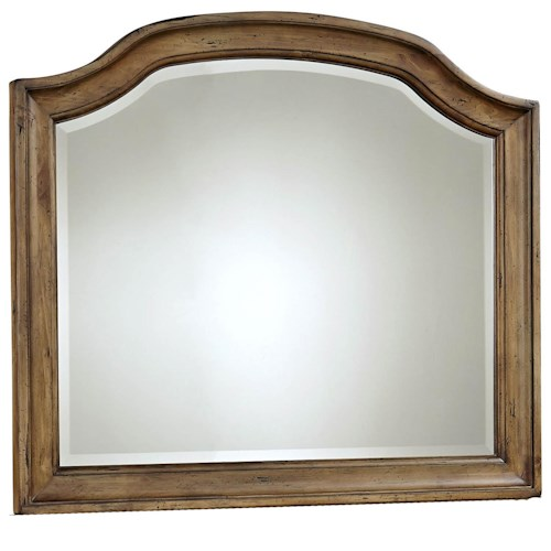 Broyhill Furniture Bethany Square Cove Dresser Mirror with Beveled Glass