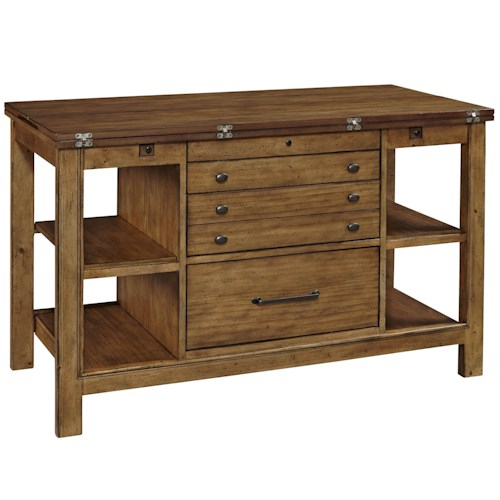 Broyhill Furniture Bethany Square Studio Center with Flip Top