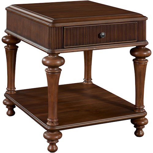 Broyhill Furniture Cascade Drawer End Table with Shelf