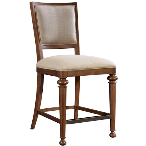 Broyhill Furniture Cascade Upholstered Counter Height Stool with Turned Legs