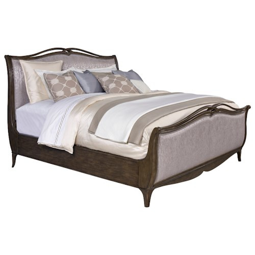 Broyhill Furniture Cashmera California King Upholstered Sleigh Bed