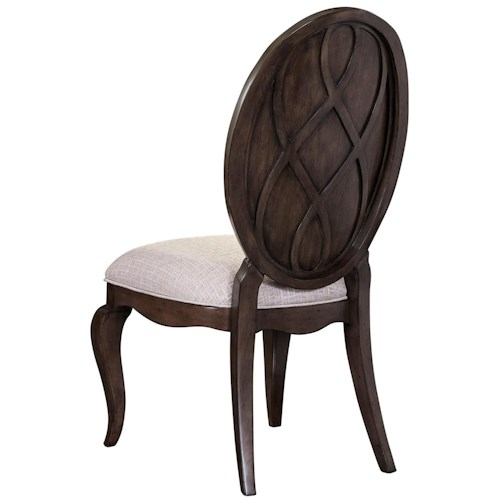 Broyhill Furniture Cashmera Dining Side Chair with Oval Back
