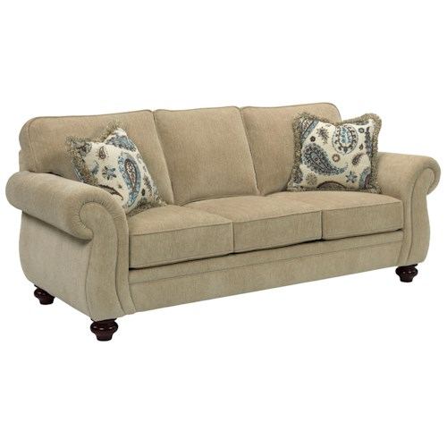 Broyhill Furniture Cassandra Traditional Style Queen Size Goodnight Sleeper Sofa