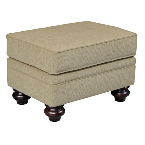 Broyhill Furniture Cassandra Traditional Ottoman with Bun Feet
