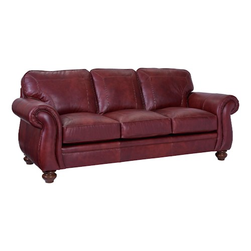 Broyhill Furniture Cassandra Traditional Queen Air Dream Sleeper Sofa
