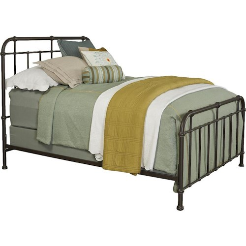 Broyhill Furniture Cranford King Metal Spindle Bed