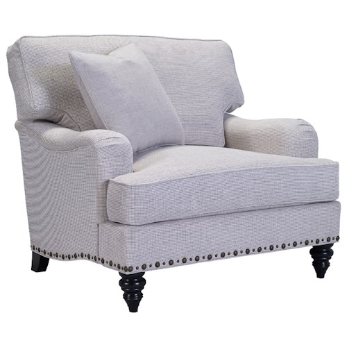 Broyhill Furniture Ester Chair & 1/2 with Unique Nailhead Trim