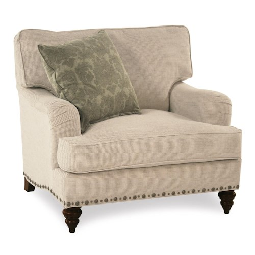 Broyhill Furniture Jarrod Chair & 1/2 with Unique Nailhead Trim