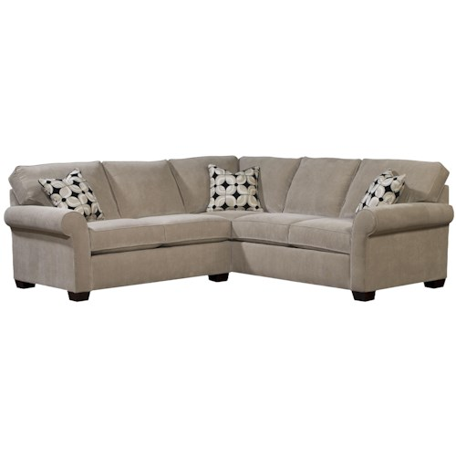 Broyhill Furniture Ethan Two Piece Sectional with LAF Full Sleeper