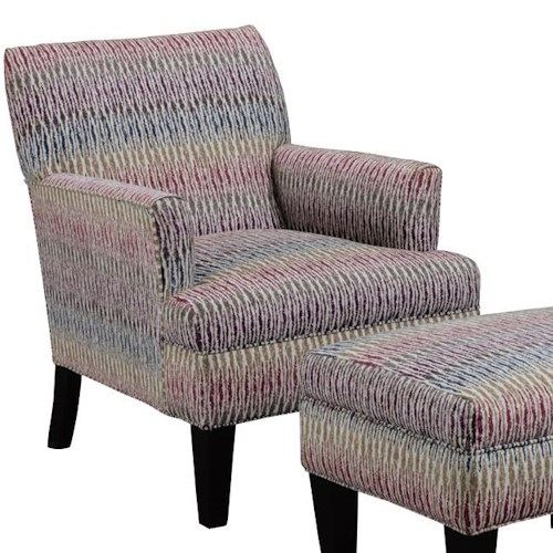 Broyhill Furniture Evie Transitional Chair with Tapered Wood Legs