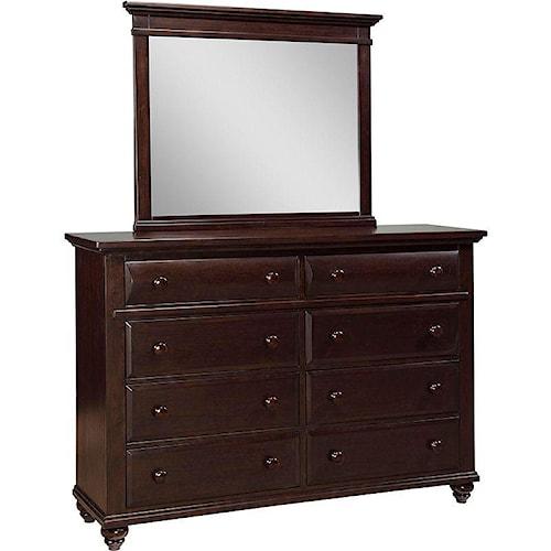 Broyhill Furniture Farnsworth 8-Drawer Dresser and Landscape Mirror