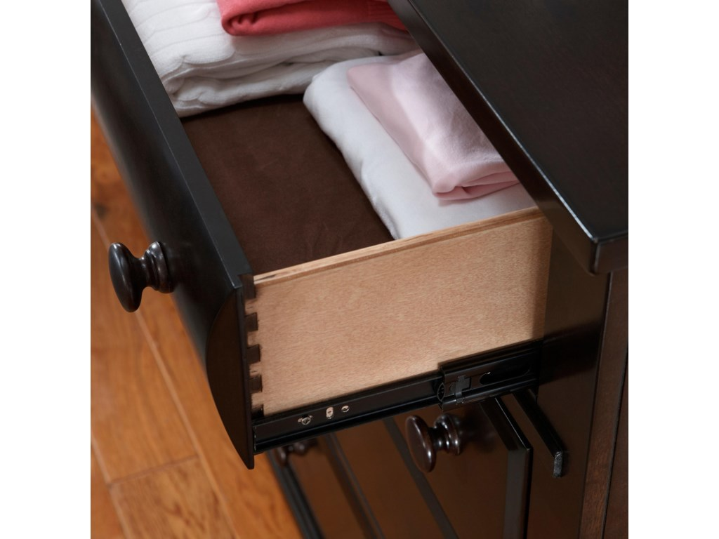 Drawers Shown with Extension Metal Glides
