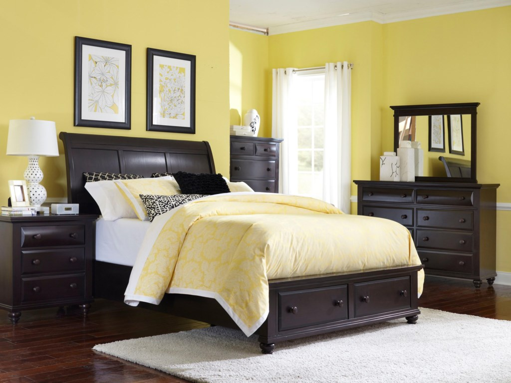 Shown with Nightstand, Dresser, Mirror, and Chest