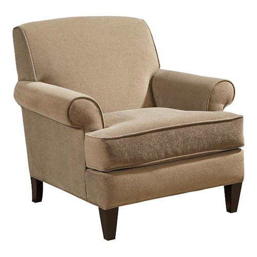 Broyhill Furniture Flint Transitional Chair with Tapered Legs