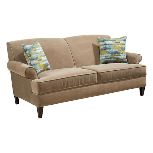 Broyhill Furniture Flint Transitional Sofa with Tapered Wood Legs
