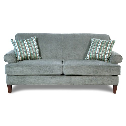Broyhill Furniture Amanda Transitional Sofa with Tapered Wood Legs
