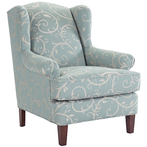 Broyhill Furniture Graham Transitional Wing Chair with Rolled Arms