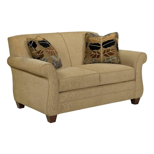 Broyhill Furniture Greenwich Transitional Loveseat with Rolled Arms