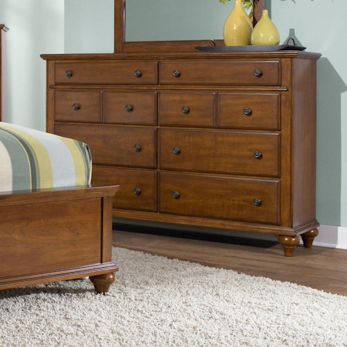 Broyhill Furniture Hayden Place 8 Drawer Dresser with Felt Lined Top Drawers