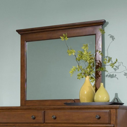 Broyhill Furniture Hayden Place Landscape Dresser Mirror with Included Mirror Supports