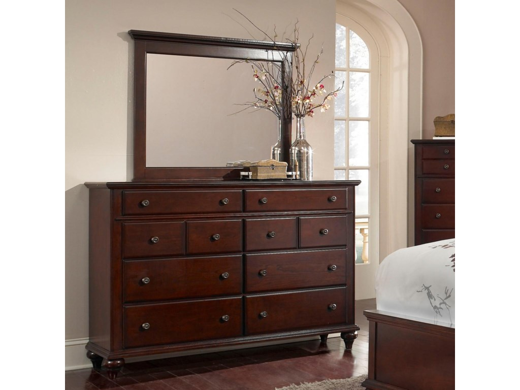 Mirror Shown with Dresser