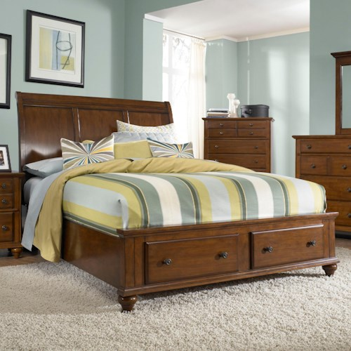 Broyhill Furniture Hayden Place King Headboard and Storage Footboard Sleigh Bed