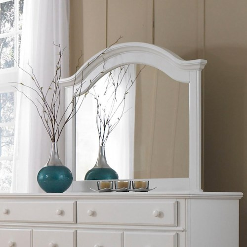 Broyhill Furniture Hayden Place Arched Dresser Mirror Includes Mirror Support