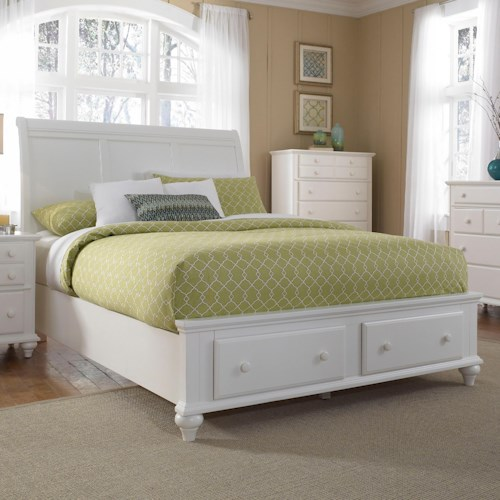 Broyhill Furniture Hayden Place Queen Headboard and Storage Footboard Sleigh Bed