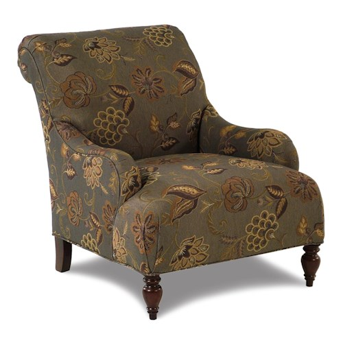 Broyhill Furniture Isla Traditional Accent Chair with Rolled Arms