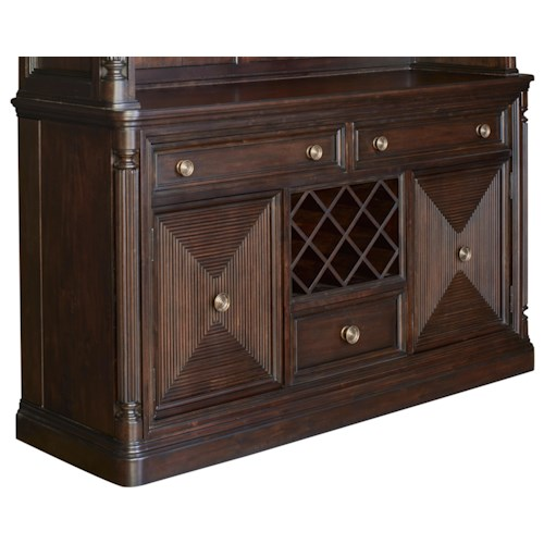 Broyhill Furniture Jessa Server with Built-In Wine Storage