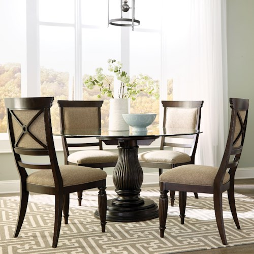 Broyhill Furniture Jessa 5 Piece Dining Set with Upholstered Seat and Back Side Chairs