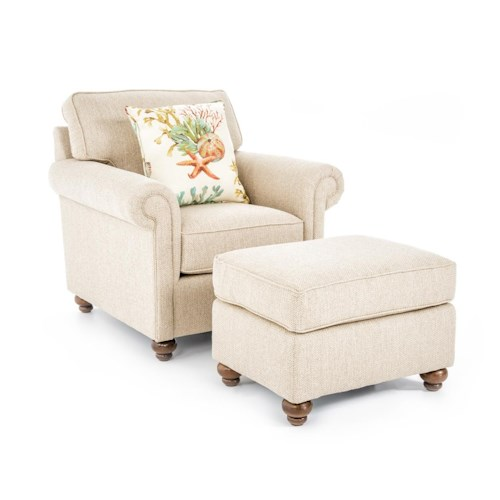 Broyhill Furniture Judd Traditional Chair and Ottoman Set