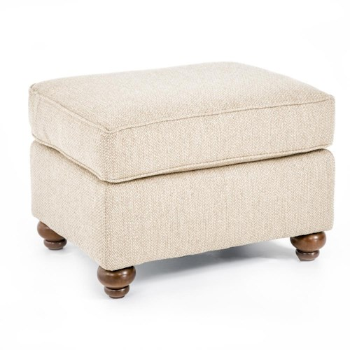 Broyhill Furniture Judd Traditional Ottoman with Turned Wood Legs