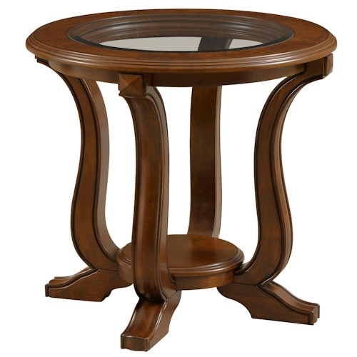 Broyhill Furniture Lana Round End Table with Shelf