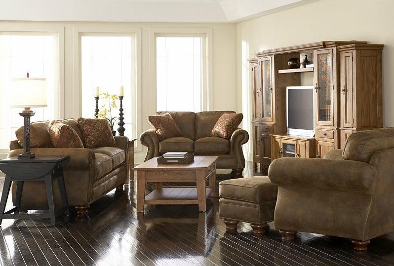 Shown with Loveseat, Chair, and Ottoman