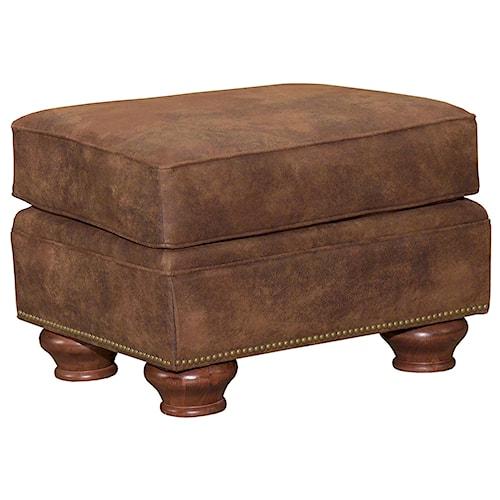 Broyhill Furniture Laramie Ottoman w/ Nail Head Trim