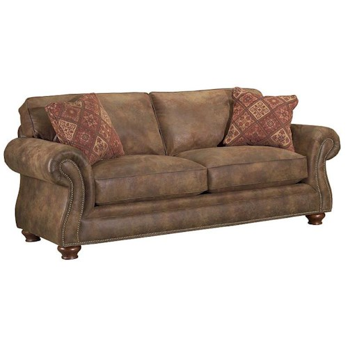 Broyhill Furniture Laramie Sofa Sleeper with Nail Head Trim