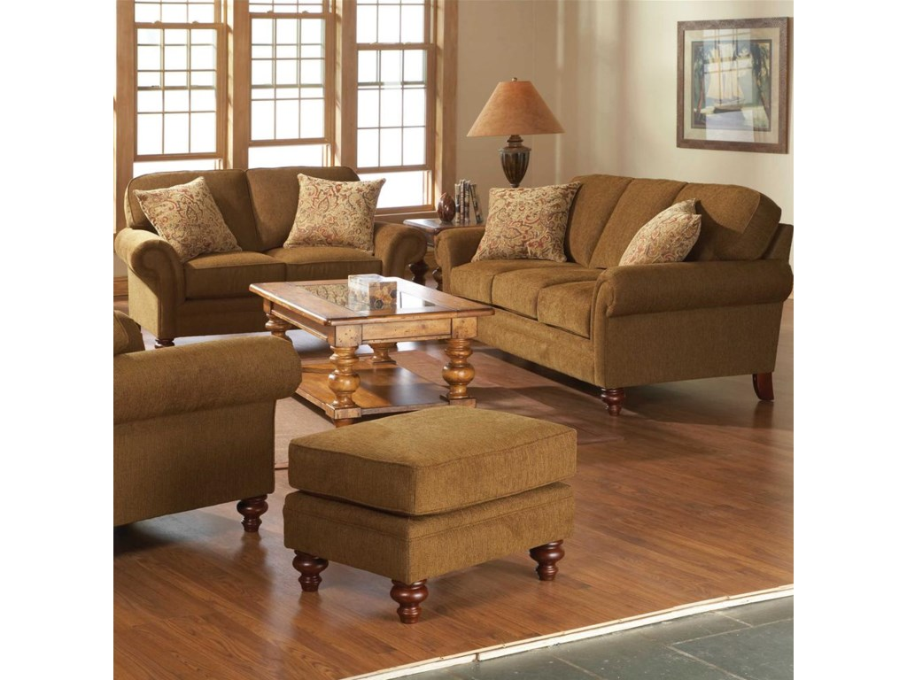 Shown with Matching Loveseat and Ottoman. Sofa Shown May Not Represent Exact Features Indicated.