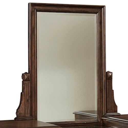 Broyhill Furniture Lyla Vanity Mirror with Fluted Pilasters