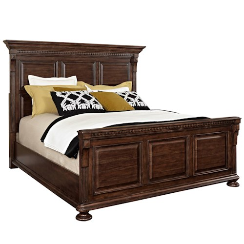 Broyhill Furniture Lyla Queen Panel Bed with Bun Feet