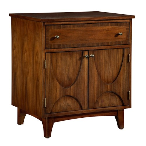 Broyhill Furniture Mardella 2 Door Nightstand with Touch Power Strip