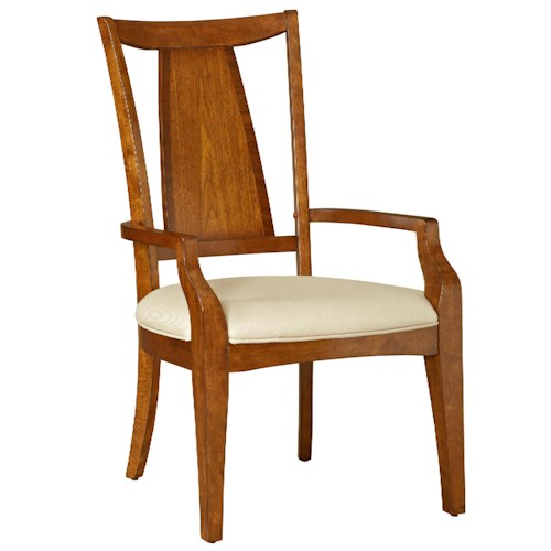 Broyhill Furniture Mardella Arm Chair with Upholstered Seat and Splat Design
