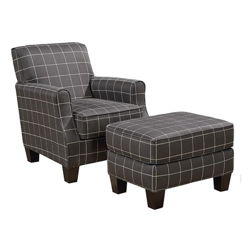 Broyhill Furniture Mazie Transitional Chair and Ottoman Set